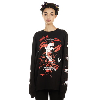 tričko s dlouhým rukávem unisex DISTURBIA - Frida Flowers, DISTURBIA