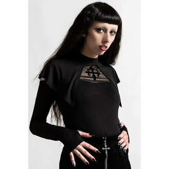 tričko dámské s dlouhým rukávem KILLSTAR - Aysling Cape - Black, KILLSTAR
