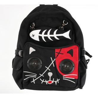 batoh BANNED - Red Kitty - Black - POŠKOZENÝ, BANNED