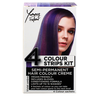 barva na vlasy STAR GAZER - Yummy Colour 4 Color Strips Kit - Viol - SGS234Ombr