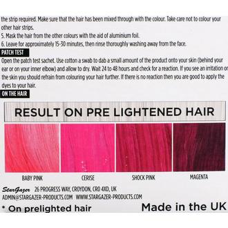 barva na vlasy STAR GAZER - Yummy Colour 4 Color Strips Kit - Pink, STAR GAZER