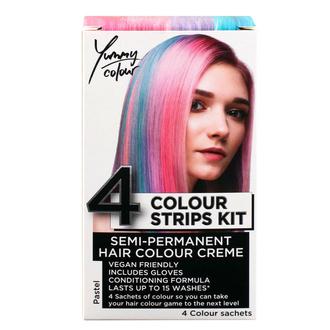 barva na vlasy STAR GAZER - Yummy Colour 4 Colour Strips Kit - Pastel, STAR GAZER