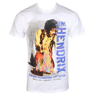 tričko pánské Jimi Hendrix - RAINBOW GUITAR FIRE - White - BRAVADO, BRAVADO, Jimi Hendrix