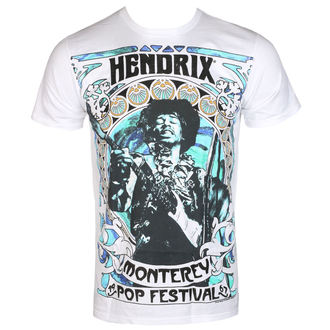 tričko pánské Jimi Hendrix - MONTEREY '67 - White - BRAVADO, BRAVADO, Jimi Hendrix