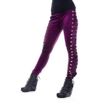 kalhoty dámské (legíny) CHEMICAL BLACK - BEETLE - Purple, CHEMICAL BLACK