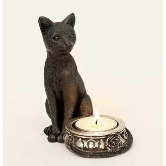 dekorace (svícen) ALCHEMY GOTHIC - Black Cat - V100