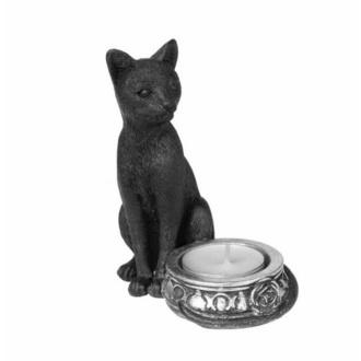 dekorace (svícen) ALCHEMY GOTHIC - Black Cat, ALCHEMY GOTHIC