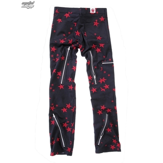 kalhoty pánské Black Pistol - Two Leg Pants Stars - Black/Red, BLACK PISTOL