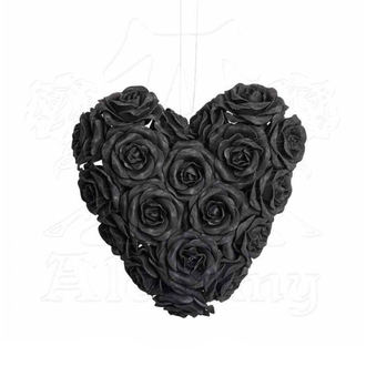 dekorace ALCHEMY GOTHIC - Black Rose Heart, ALCHEMY GOTHIC
