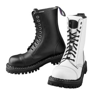 boty STEADY´S - 10 dírkové - Black white - STE/10_black/white