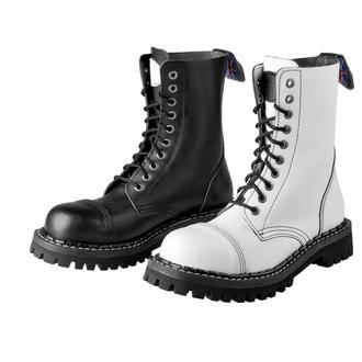 boty STEADY´S - 10 dírkové - Black white, STEADY´S