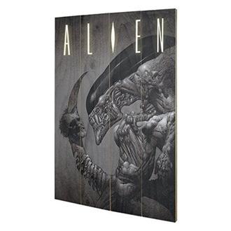 dřevěný obraz Alien - Vetřelec - (Head On Tail) - PYRAMID POSTERS, PYRAMID POSTERS, Alien - Vetřelec
