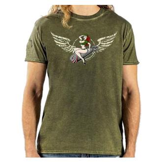 tričko pánské LETHAL THREAT - VINTAGE VELOCITY BOMBS AWAY ARMY - GREEN - VV40152