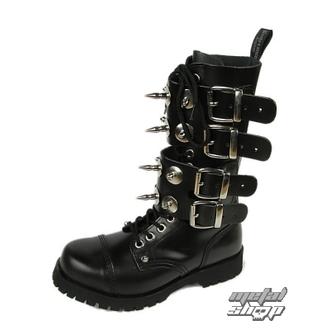 boty BOOTS & BRACES - Scare 4-buckles - ČERNÉ, BOOTS & BRACES