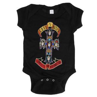 body dětské Guns N' Roses - AFD CROSS ONESIE - BLACK - BRAVADO, BRAVADO, Guns N' Roses