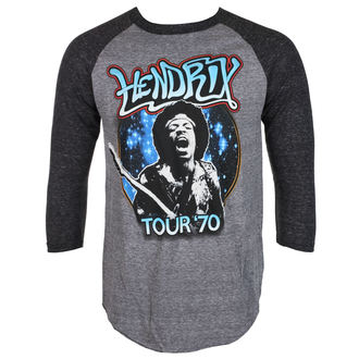 tričko pánské s 3/4 rukávem Jimi Hendrix - AUTHENTC 70 TOUR - BRAVADO, BRAVADO, Jimi Hendrix