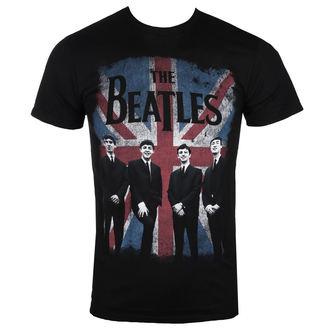 tričko pánské BEATLES - UNION JACK DIST BLK - BRAVADO, BRAVADO, Beatles