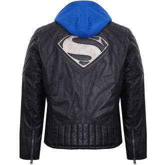 bunda pánská kožená SUPERMAN - BLACK