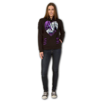 mikina dámská SPIRAL - SACRED LOVE - Purple/Black, SPIRAL