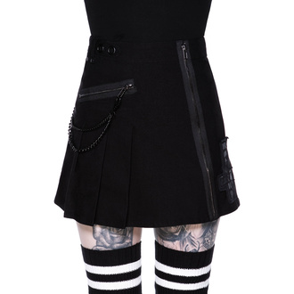 sukně dámská KILLSTAR - Calling Alice Mini Skirt - BLACK, KILLSTAR