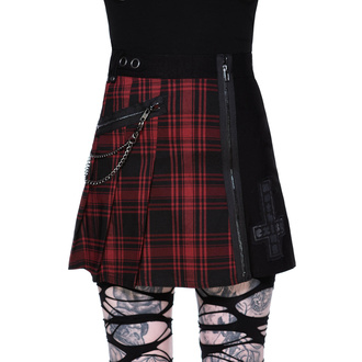 sukně dámská KILLSTAR - Calling Alice Mini Skirt - TARTAN, KILLSTAR