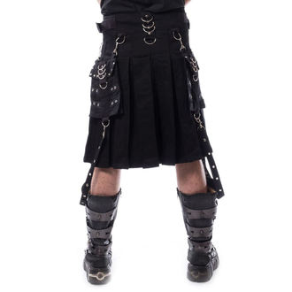 kilt pánský CHEMICAL BLACK - CARL - BLACK, CHEMICAL BLACK