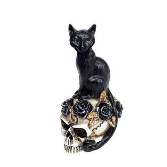 dekorace ALCHEMY GOTHIC - Cat/Skull - VM3