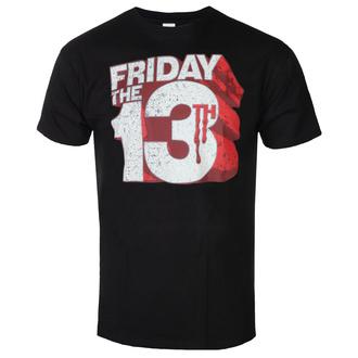 tričko pánské Friday The 13th - Block Logo - Black - HYBRIS, HYBRIS, Friday the 13th