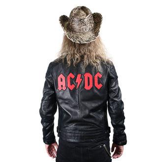 bunda pánská kožená AC/DC - LNTC BLACK