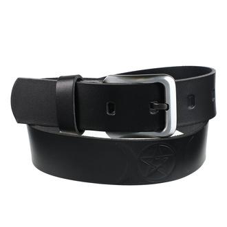 pásek Pentagram - black, Leather & Steel Fashion