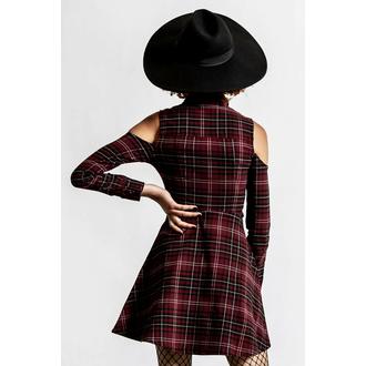 šaty dámské KILLSTAR - Chaotica - BLOOD TARTAN, KILLSTAR