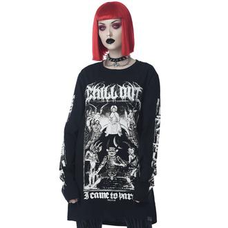 tričko unisex s dlouhým rukávem KILLSTAR - Chill Out - Black, KILLSTAR