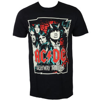 tričko pánské AC/DC - CARTOON - BLACK - LIVE NATION