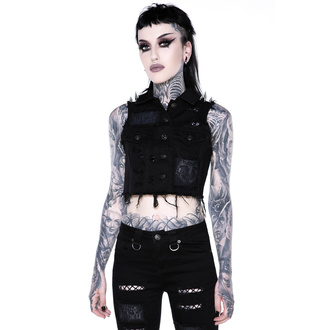 vesta dámská KILLSTAR - Come Undone Denim Vest - KSRA002139