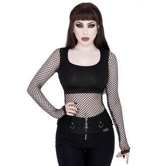 tričko dámské s dlouhým rukávem KILLSTAR - Cordelia Fishnet - BLACK - KSRA001718