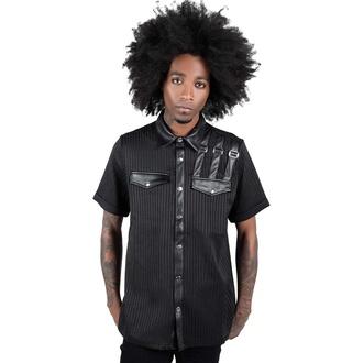 košile pánská KILLSTAR - Corporate Hell - Pinstripe, KILLSTAR