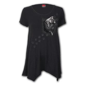 tričko dámské (tunika) SPIRAL - POCKET KITTEN - Smock, SPIRAL