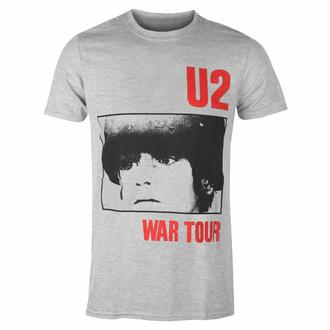 tričko pánské U2 War Tour - GREY - ROCK OFF, ROCK OFF, U2