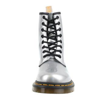boty DR. MARTENS - 8 dírkové - VEGAN 1460 - silver chrome paint metallic, Dr. Martens