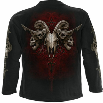 tričko pánské s dlouhým rukávem SPIRAL - FACES OF GOTH - Black, SPIRAL
