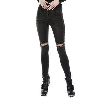 kalhoty dámské (jeans) PUNK RAVE - washed out - OPK-132NCFBK