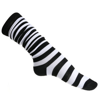 podkolenka dámské POIZEN INDUSTRIES - OK Stripe Sox - Black/White, POIZEN INDUSTRIES