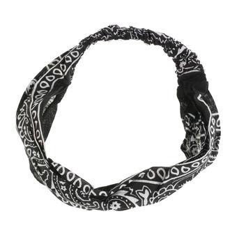 šátek (čelenka) ROCKABELLA - BAND TWO BANDANA - BLACK