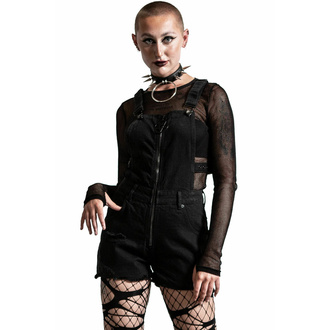 kraťasy dámské KILLSTAR - Damaged Goods Overalls - Black, KILLSTAR