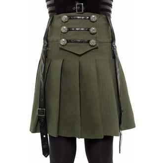 sukně dámská KILLSTAR - Dark Academy - KHAKI - KSRA002428