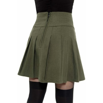 sukně dámská KILLSTAR - Dark Academy - KHAKI, KILLSTAR