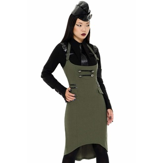 sukně dámská KILLSTAR - Darkwave Division - KHAKI - KSRA002434