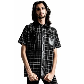 košile pánská KILLSTAR - Daze Button-Up - ASH TARTAN, KILLSTAR