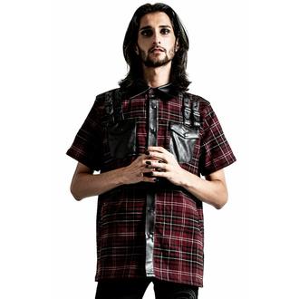 košile pánská KILLSTAR - Daze Button-Up - BLOOD TARTAN, KILLSTAR