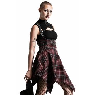 sukně dámská KILLSTAR - Dazed & Confused Suspender - BLOOD TARTAN, KILLSTAR